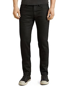 John Varvatos Star Usa Bowery Slim Straight Fit Jeans in Jet Black