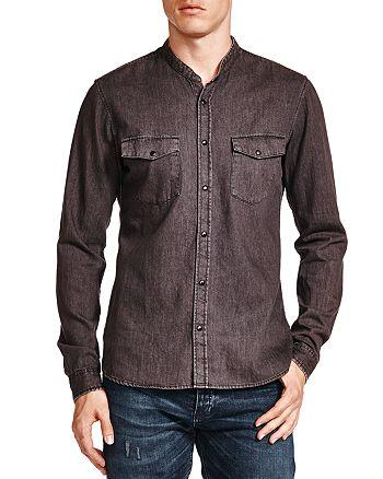 a5193434c2 The Kooples Washed Denim Slim Fit Shirt | Bloomingdale's