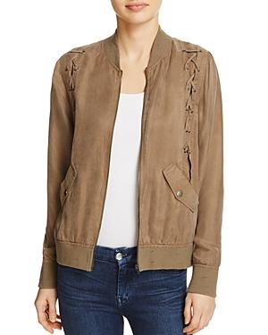 Honey Punch Lace-Up Bomber Jacket