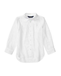 Polo Ralph Lauren Girls' High-Low Oxford Shirt - Little Kid - Bloomingdale's_0