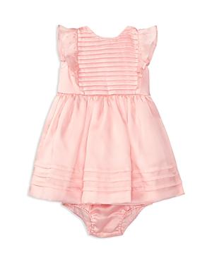 Ralph Lauren Childrenswear Infant Girls Silk Organza Pleated Dress  Bloomer Set  Sizes 324 Months