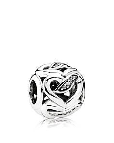 PANDORA Charm - Sterling Silver & Cubic Zirconia Ribbons Of Love, Moments Collection - Bloomingdale's_0