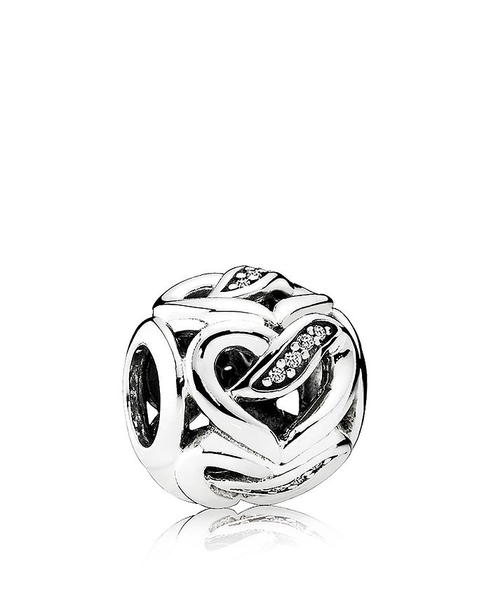 PANDORA - Charm - Sterling Silver & Cubic Zirconia Dreams of Love, Moments Collection