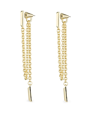 Eddie Borgo Draped Chain Bar Drop Earrings