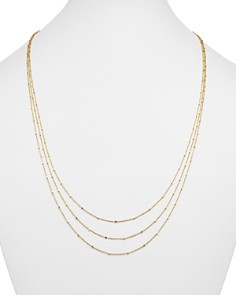 """Bloomingdale's - 14K Yellow Gold Multi Strand Satellite Chain Necklace, 18"""" - 100% Exclusive"""