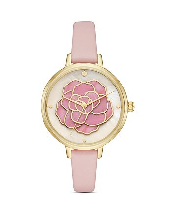 kate spade new york - Leather Metro Watch, 34mm