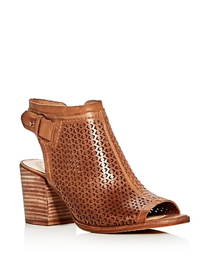 Vince Camuto Lidie Perforated Block Heel Sandals