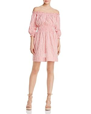 Rebecca Taylor Off-the-Shoulder Stripe Dress - 100% Exclusive