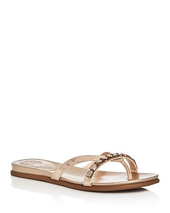 240039655fe8 VINCE CAMUTO - Women s Eddinal Metallic Embellished Thong Sandals