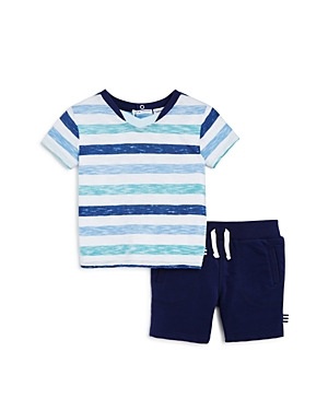 Splendid Boys' Marled Stripe Tee & Shorts Set - Baby