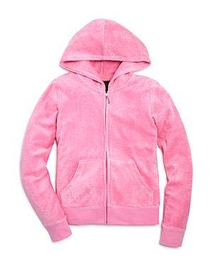 Juicy Couture Black Label Girls' Microterry Hoodie - Sizes 8-14