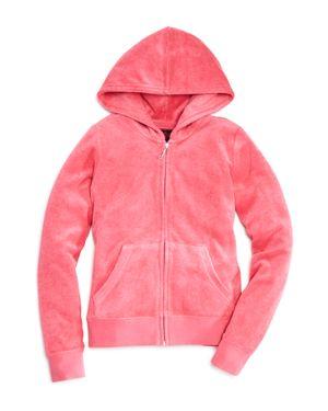 Juicy Couture Black Label Girls' Microterry Hoodie - Big Kid
