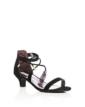 Steve Madden Girls' Ankle Strap Kitten Heel Sandals - Little Kid, Big Kid