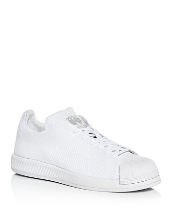 029555f58c06 Adidas Men s Superstar Bounce Primeknit Lace Up Sneakers ...