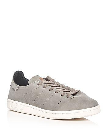 quality design e5e2c c5478 Adidas - Mens Stan Smith Lea Sock Lace Up Sneakers