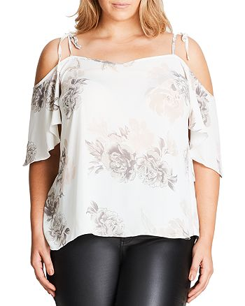 City Chic Plus - Floral Whimsy Top