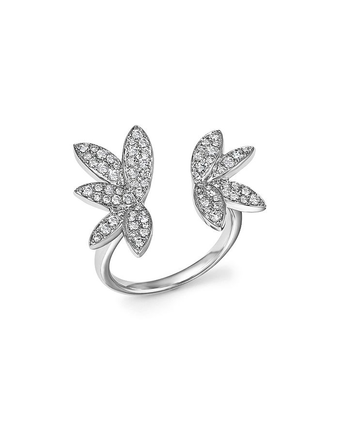 Bloomingdale's - Diamond Open Leaf Ring in 14K White Gold, .60 ct. t.w.- 100% Exclusive