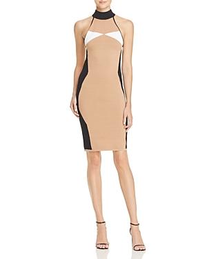 Kendall + Kylie Illusion Halter Dress