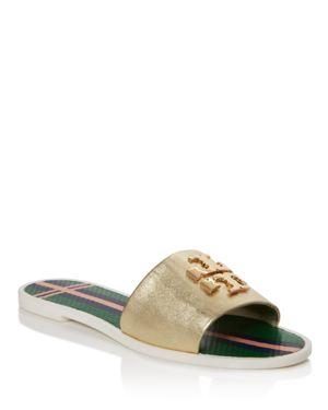 Tory Burch Logo Jelly Slide Sandals 2449163