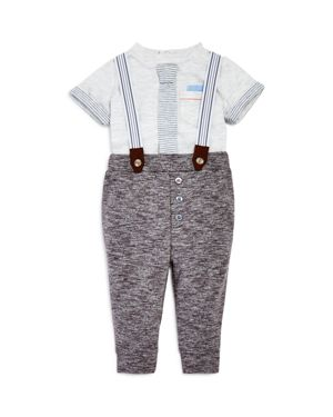 Miniclasix Boys' Tee & French Terry Suspender Pants Set - Baby