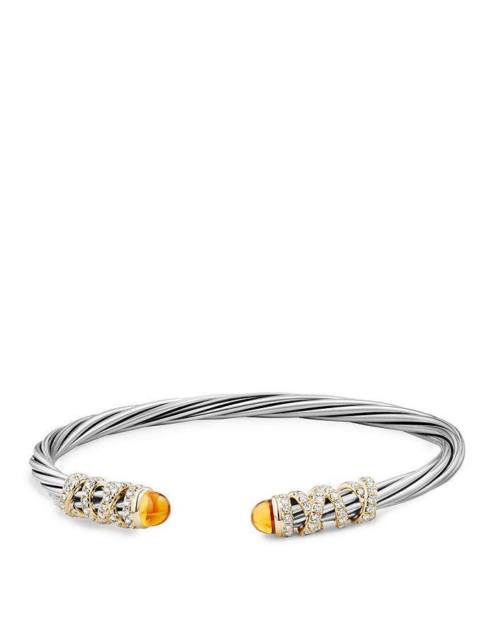 David Yurman - Helena End Station Bracelet with Citrine, Diamonds and 18K Gold