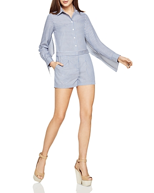 Bcbgmaxazria Clarence Capelet Striped Romper at Bloomingdale's