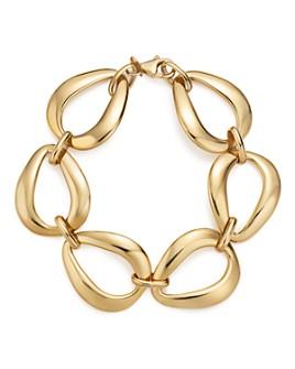 Bloomingdale's - 14K Yellow Gold Pearshape Link Bracelet - 100% Exclusive