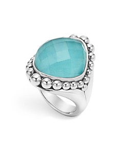 LAGOS - Sterling Silver Maya Escape Turquoise Doublet Dome Ring