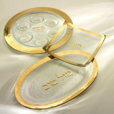 Judaica Challah Platter, Gold