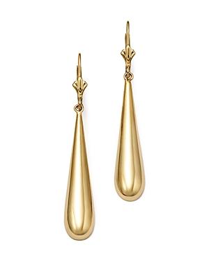 14K Yellow Gold Long Teardrop Earrings - 100% Exclusive