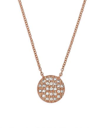 Dana Rebecca Designs - 14K Rose Gold Lauren Joy Medium Necklace with Diamonds