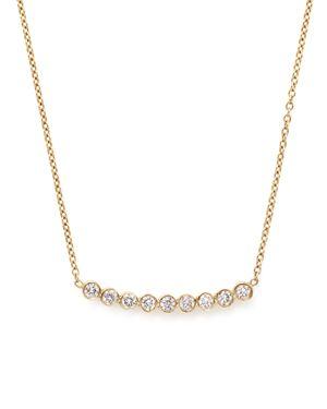 Zoe Chicco 14K Gold & Bezel Set Diamond Necklace, 16