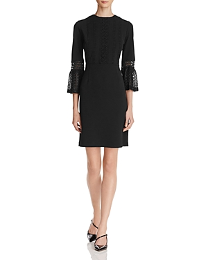 nanette Nanette Lepore Lace Bell-Sleeve Dress