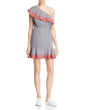 Lucy Paris Gingham One-Shoulder Dress - 100% Exclusive