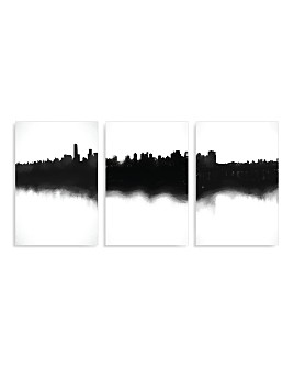 Art Addiction Inc. - Skyline Triptych Wall Art - 100% Exclusive