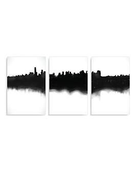 Art Addiction Inc. - Skyline Triptych Wall Art - 100% Exclusive