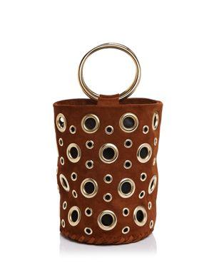 Delphine Delafon Chain Suede Bucket Bag