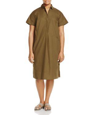 Marina Rinaldi Decimale Poplin Shirt Dress