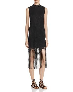 Aqua Lace Fringe Hem Dress - 100% Exclusive