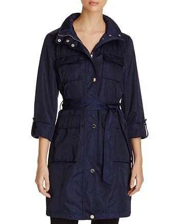 T Tahari - Monroe Four-Pocket Rain Jacket