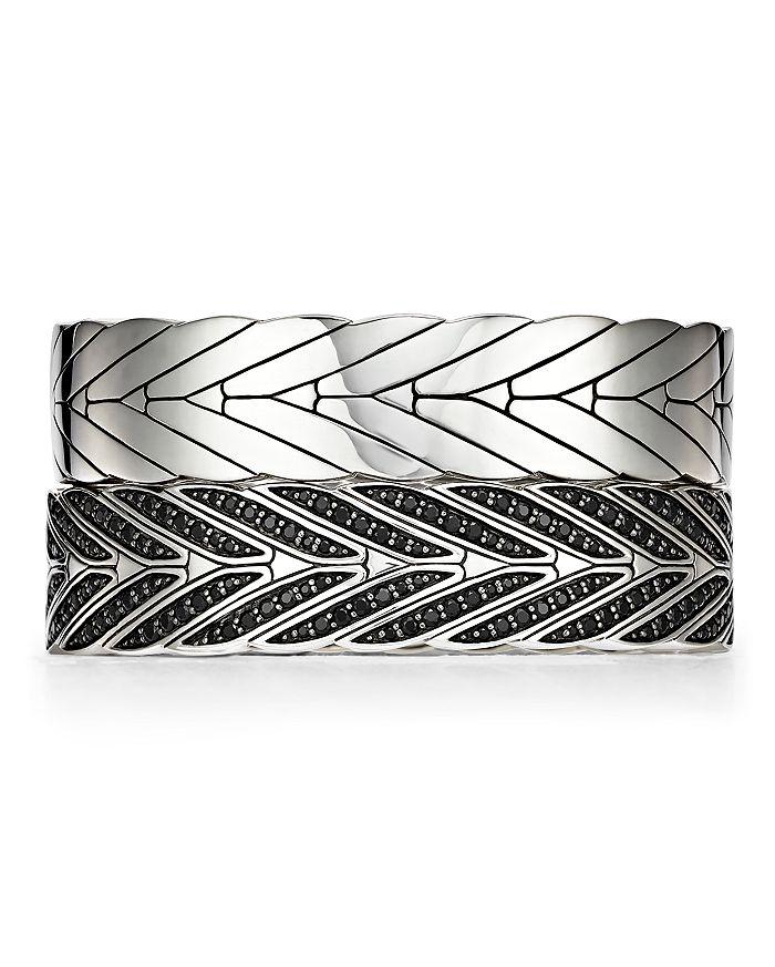 JOHN HARDY - Sterling Silver Modern Chain Hinged Bangles