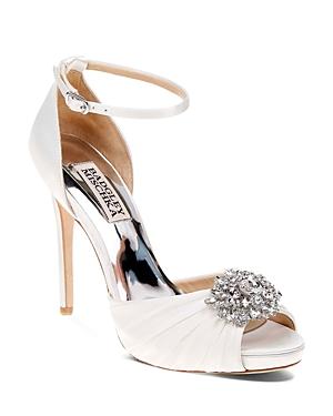 Badgley Mischka Tad Embellished High Heel Ankle Strap Sandals