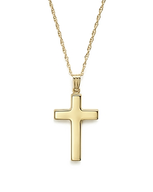 14K Yellow Gold Polished Cross Necklace, 18 - 100% Exclusive