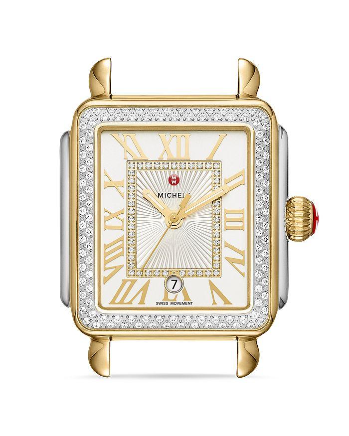 MICHELE - Deco Madison Diamond Watch Head, 33mm x 35mm