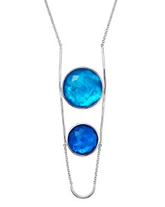 IPPOLITA - Sterling Silver Rock Candy® Wonderland Two Stone Doublet Necklace in Island, 31""