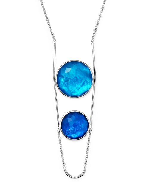 """IPPOLITA - Sterling Silver Rock Candy® Wonderland Two Stone Doublet Necklace in Island, 31"""""""