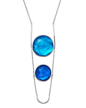Ippolita Sterling Silver Rock Candy Wonderland Two Stone Doublet Necklace in Island, 31