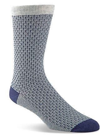 Cole Haan - Dog Bone Textured Socks