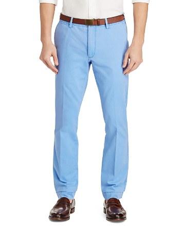 $Polo Ralph Lauren Pima Cotton Twill Slim Fit Pants - Bloomingdale's