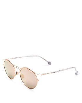 Dior - Women's Mirrored Round Sunglasses, 52mm